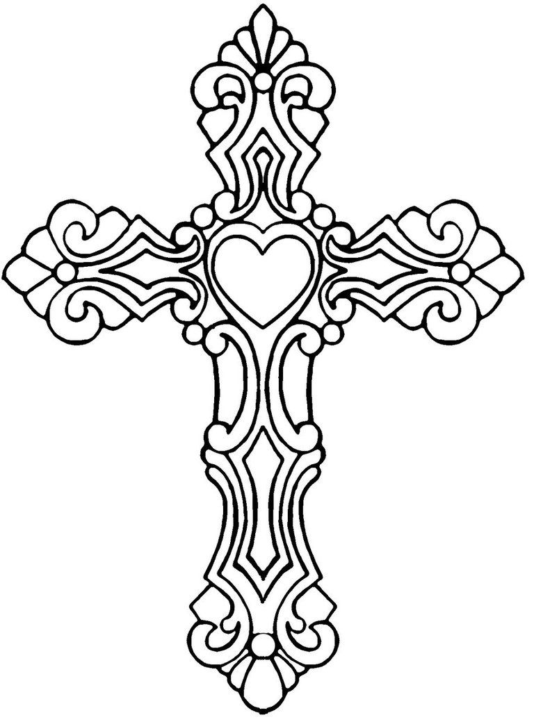 cross coloring pages for free - photo#15