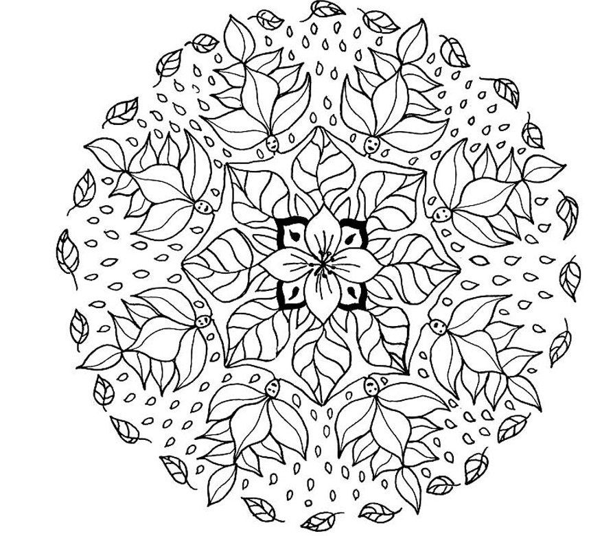 Advanced Mandala Coloring Pages Printable - Coloring Home