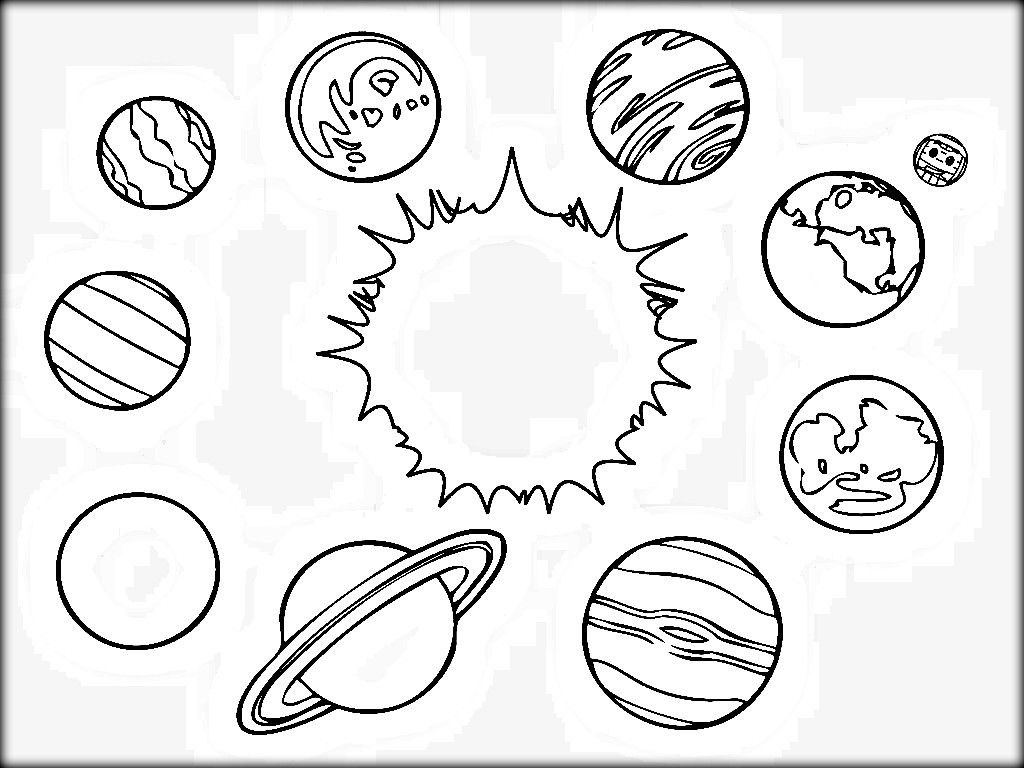 Coloring pictures planets solar system - Solar System Coloring Pages For Kids