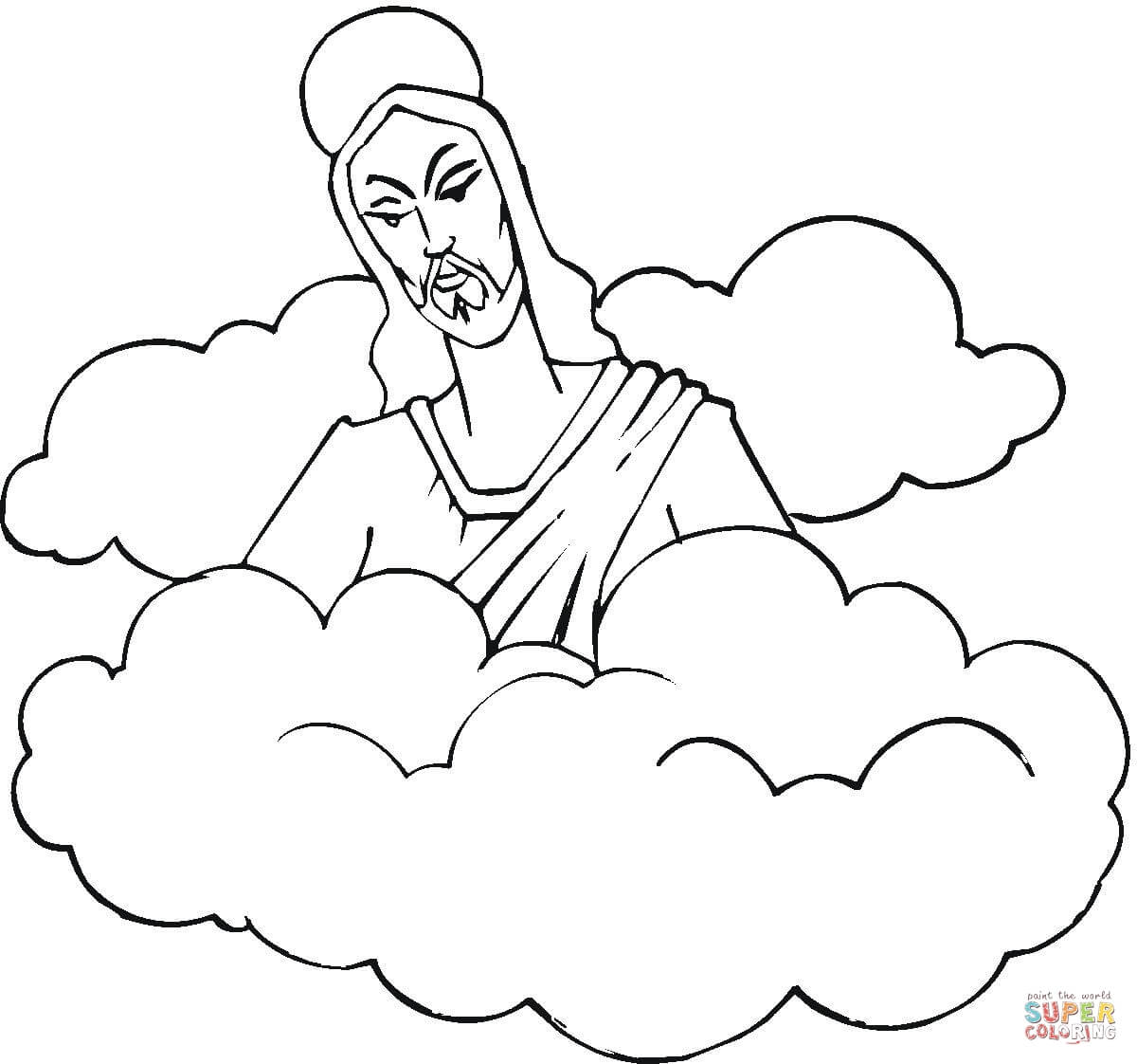 Coloring pages of clouds coloring home for Coloring pages clouds