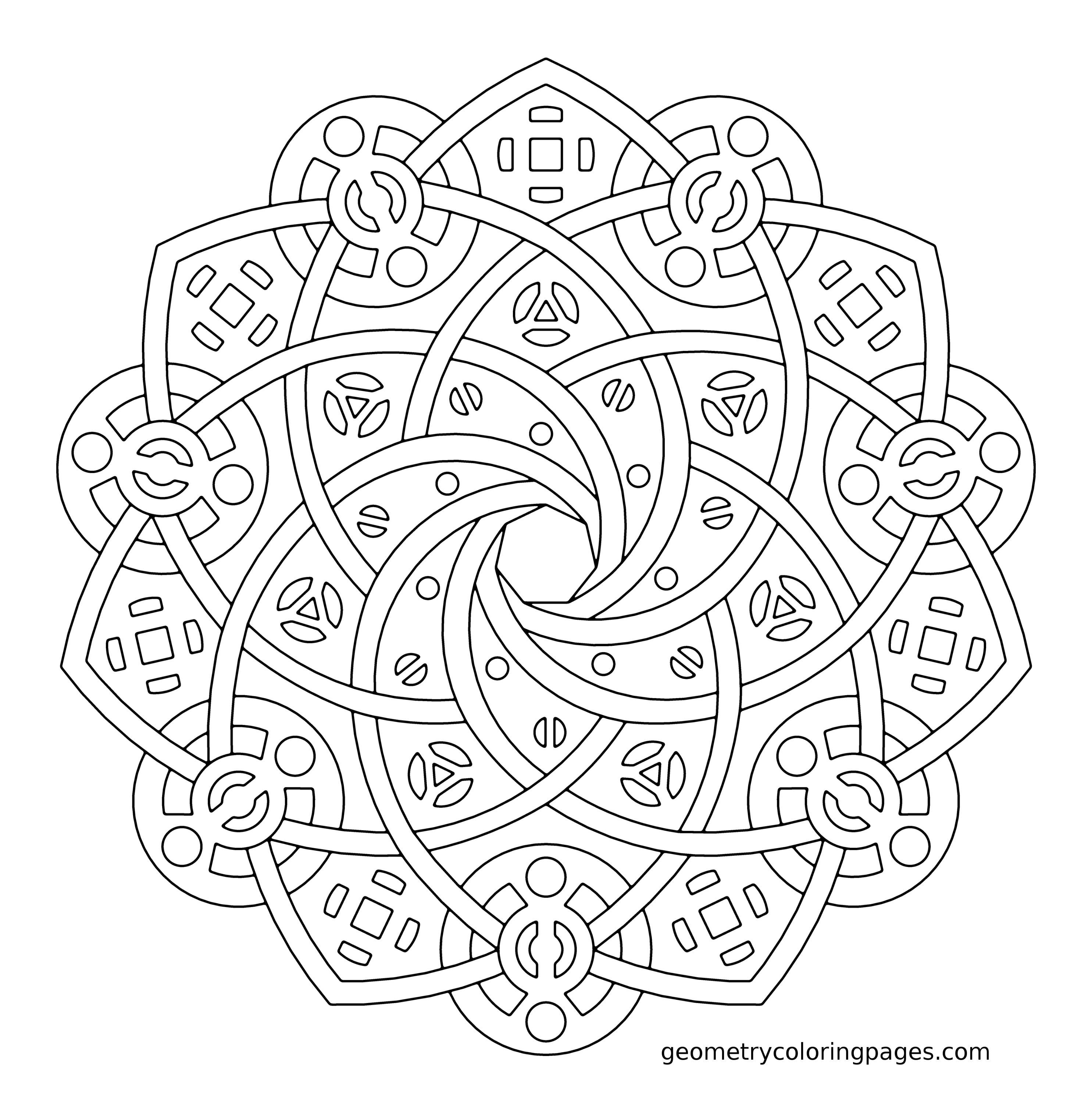 complex geometric coloring pages printable - photo#13