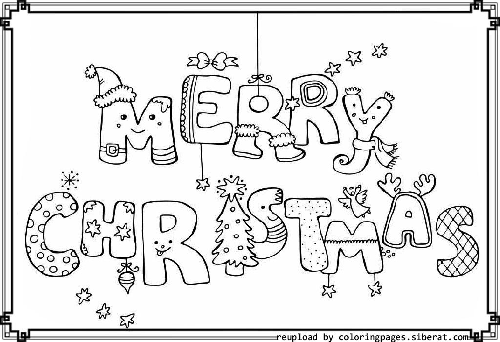 merry christmas signs coloring pages - photo#20