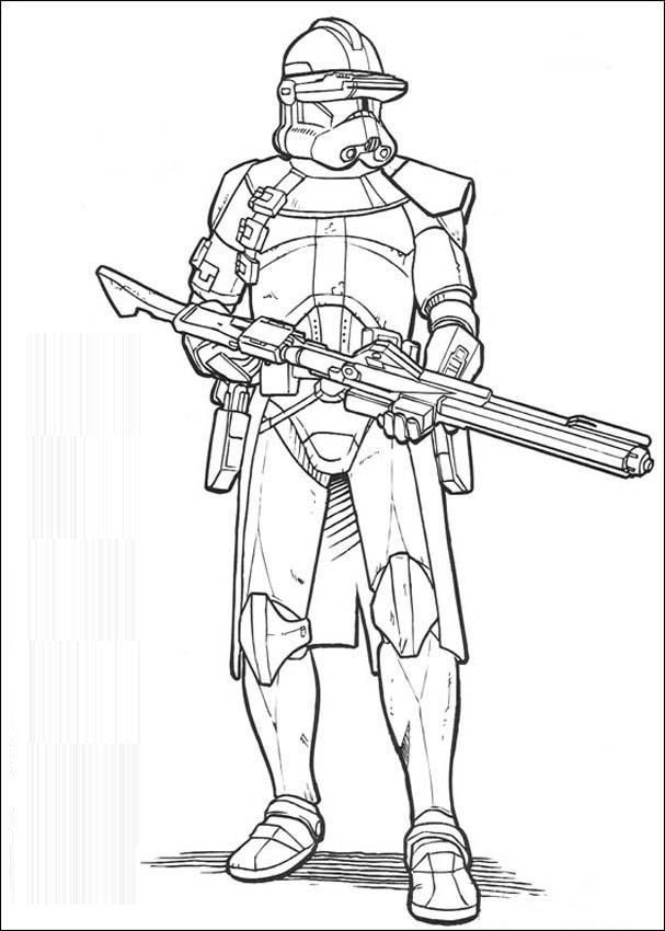 Star Wars Coloring Pages Pdf : Pics of star wars clone cartoon coloring pages