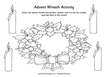 Advent Coloring Pages Wreath