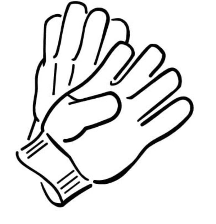 Print Gloves Winter Clothes Coloring Page Or Download