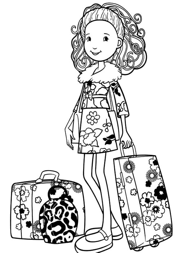 Groovy Girls Going To Travel Coloring Pages Free Printable