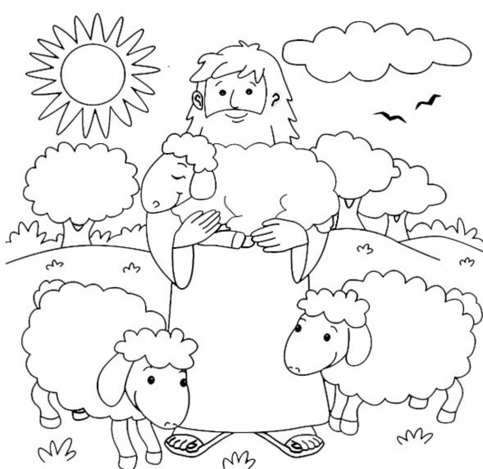 Shepherds Coloring Pages Coloring Home