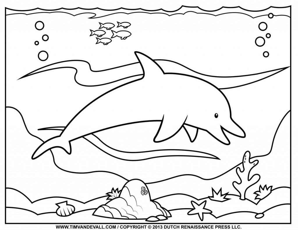 Coloring pages dolphins - Dolphin Coloring Pages Dr Odd