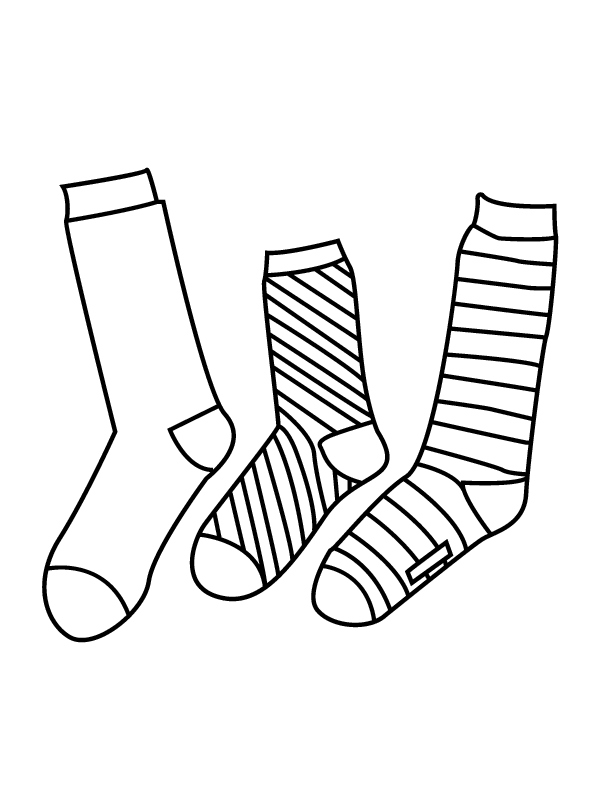 Socks Coloring Pages - Coloring Home