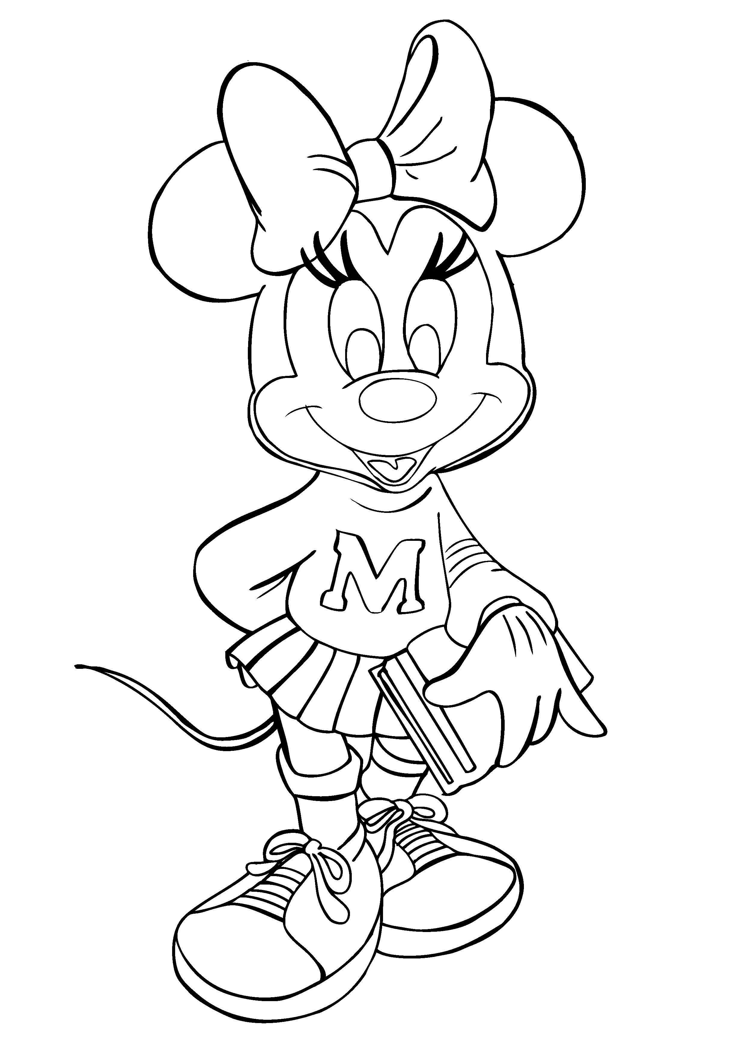 Minnie flower coloring pages ~ Cute Baby Minnie Flower Disney Coloring Pages For Kids ...