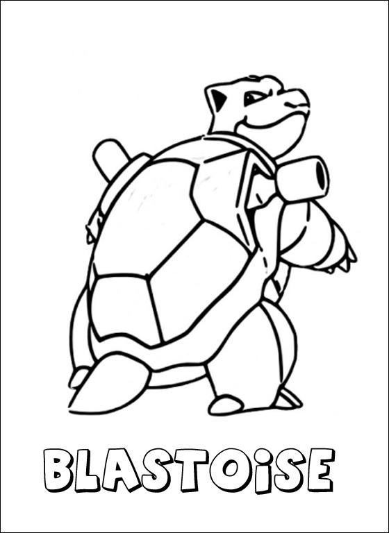 Pokemon coloring pages mega blastoise