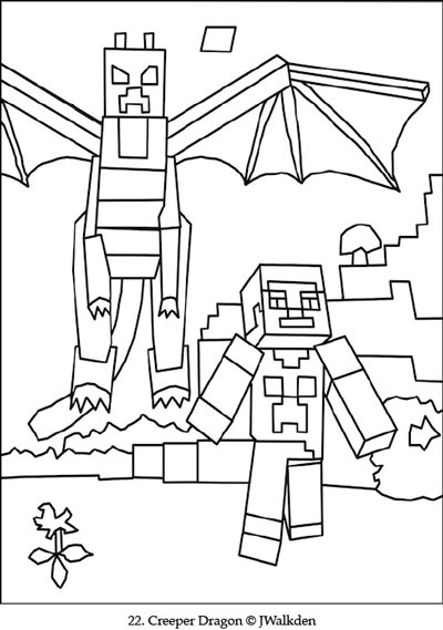 Minecraft Ender Dragon | A Free Minecraft Coloring Page