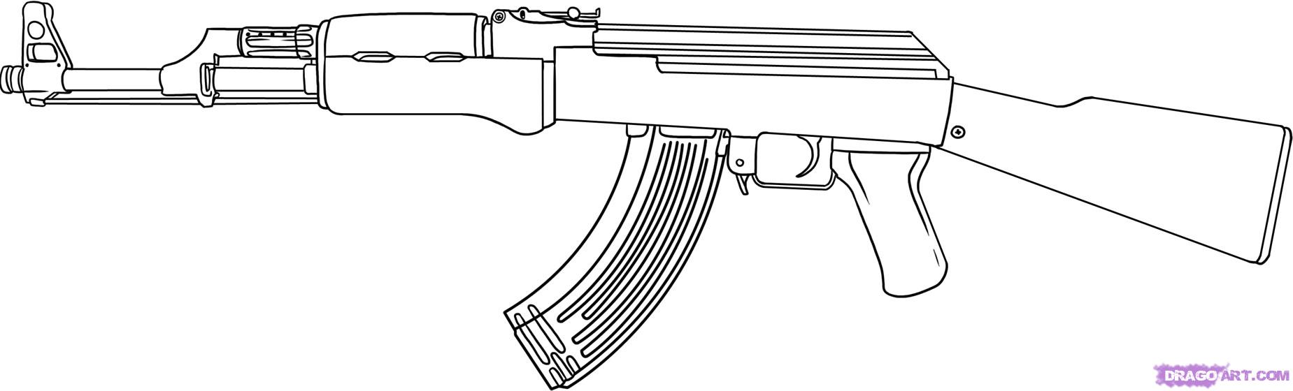 Gun Coloring Pages  Bestofcoloringcom  Coloring Home