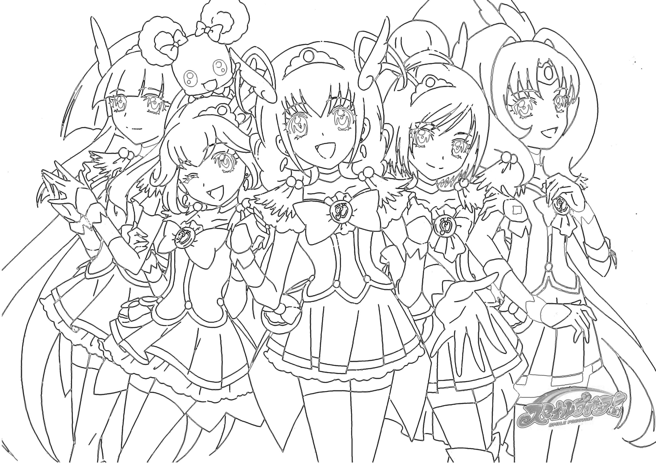 Happy Glitter Force Coloring Page Wecoloringpagecom Sketch ...