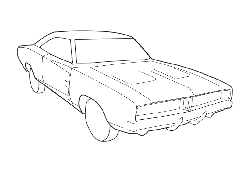 1969 dodge charger coloriage