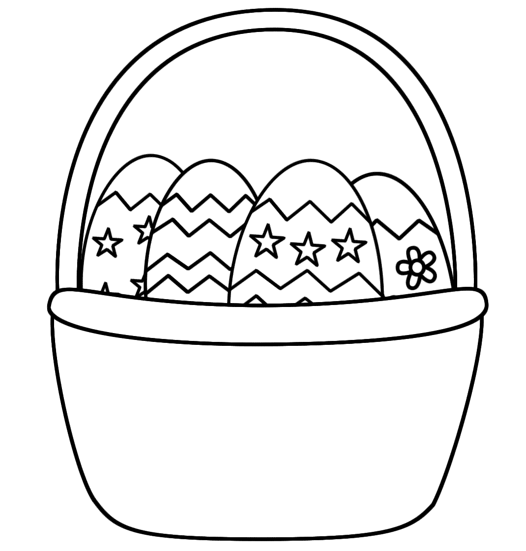 Empty Easter Basket Coloring Page - Coloring Pages For Kids ...