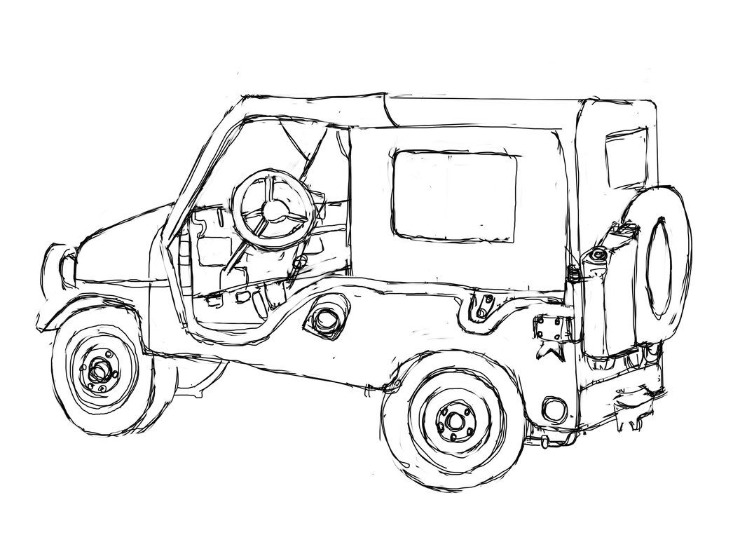 Military Jeep Coloring Pages - Coloring Home