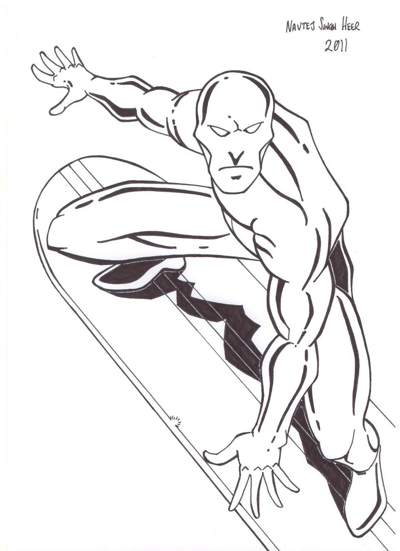 Surf Coloring Pages Black And White Coloring Home