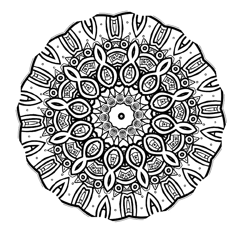 advanced mandala coloring pages printable - photo#17