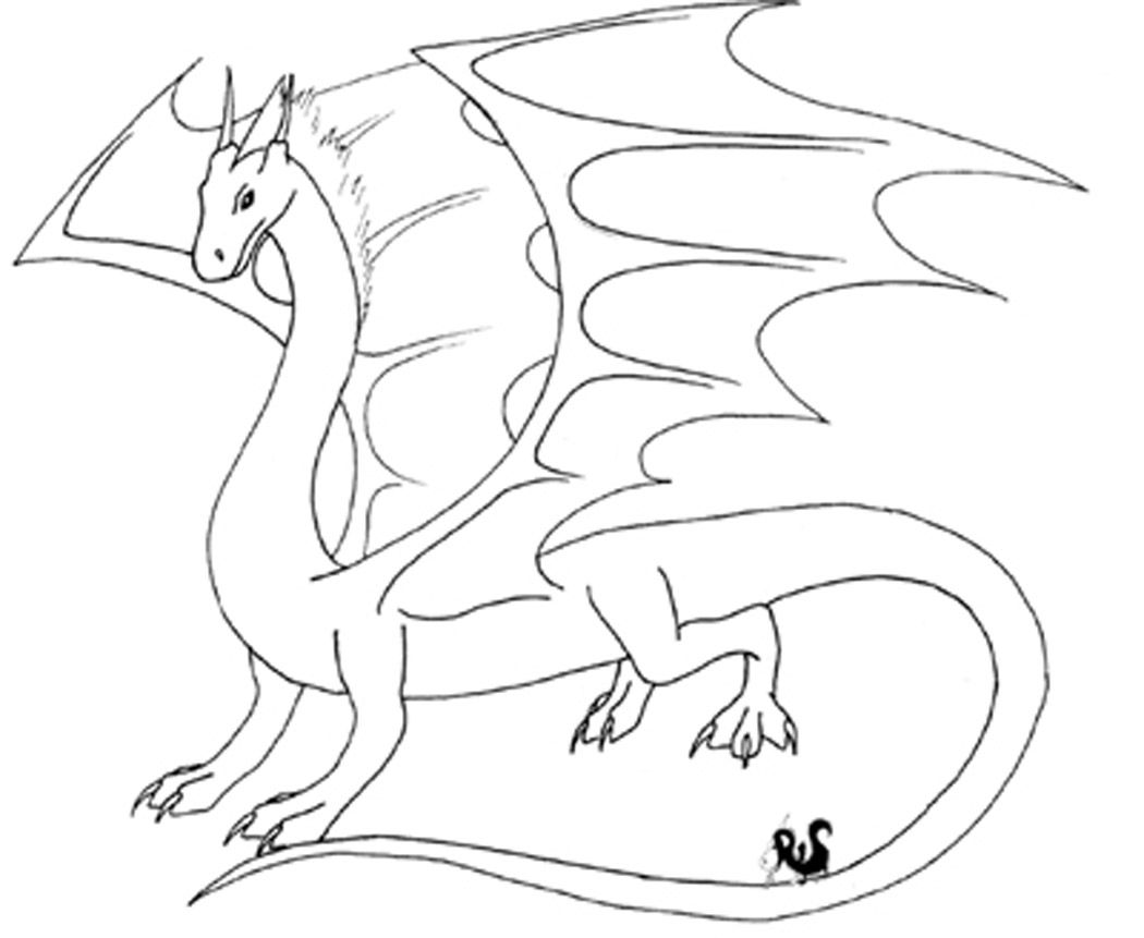 Flying Dragon Coloring Pages Cute
