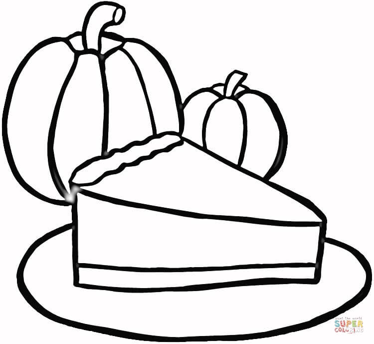 Piece of Pumpkin Pie coloring page | Free Printable Coloring Pages
