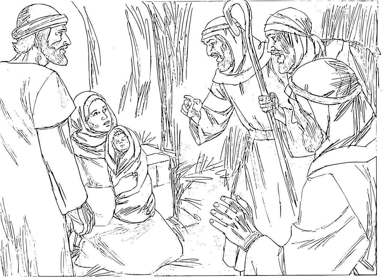 Manger Advent Coloring Page Coloring