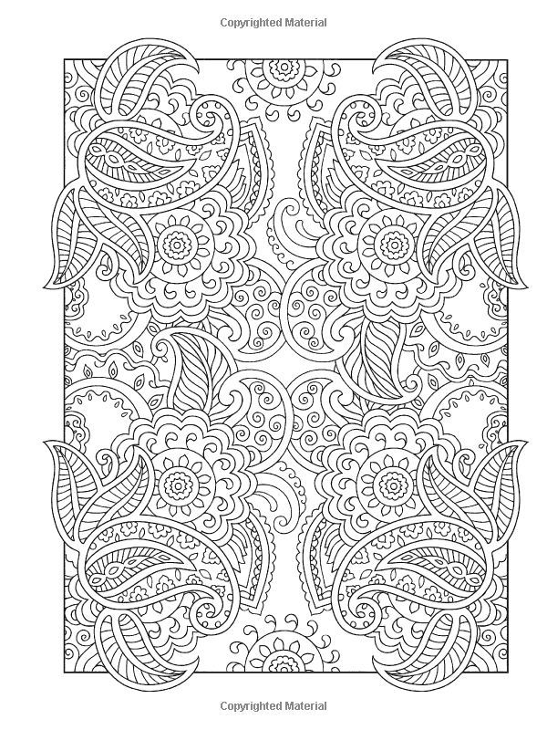 mehndi designs coloring book pages - photo#14