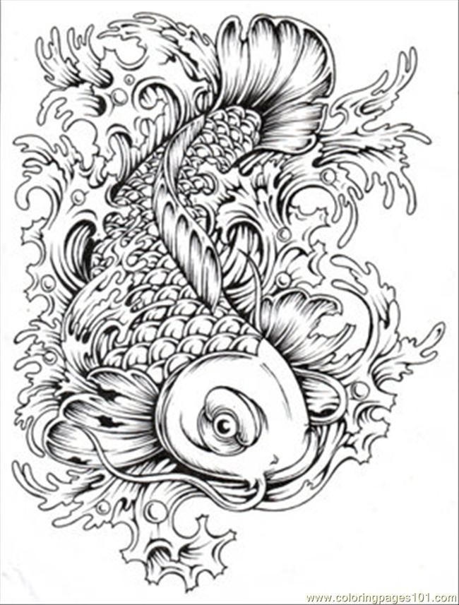 Japanese Koi Coloring Pages Download And Print For Free Coloring