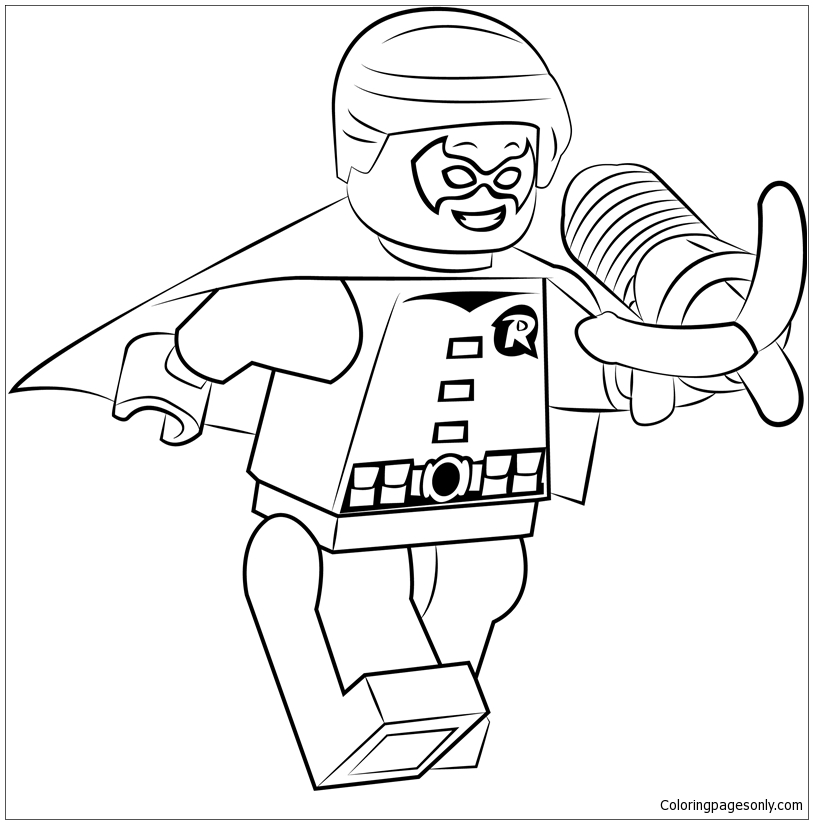 Lego Robin Coloring Pages Coloring Home