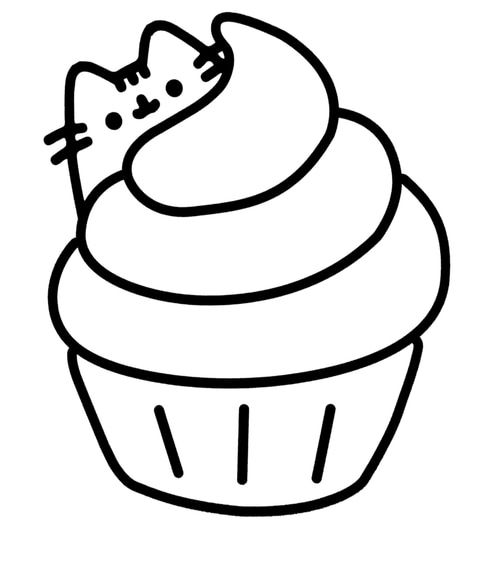 - Pusheen Cat Coloring Pages - Coloring Home