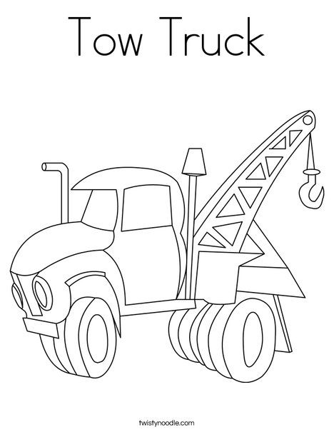 Tow Truck Coloring Page - Twisty Noodle