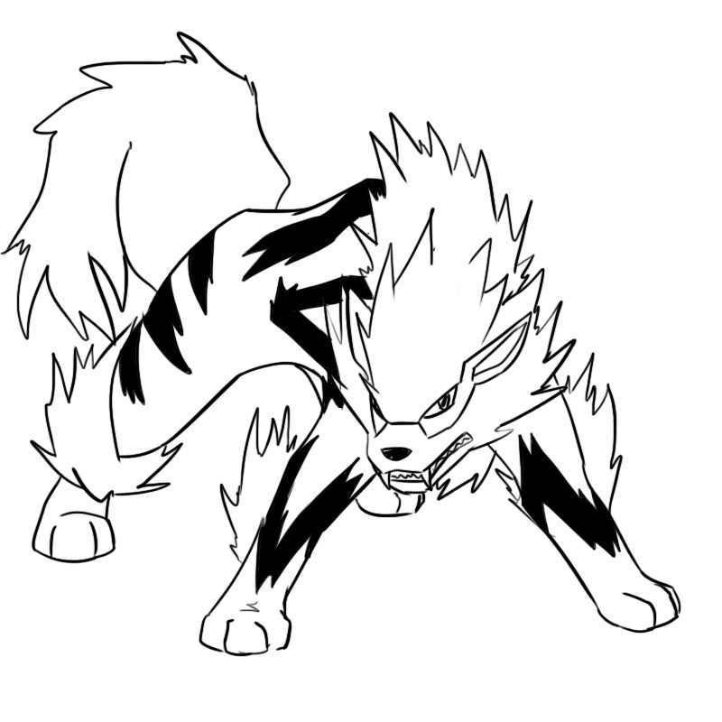 arcanine coloring pages - photo#10