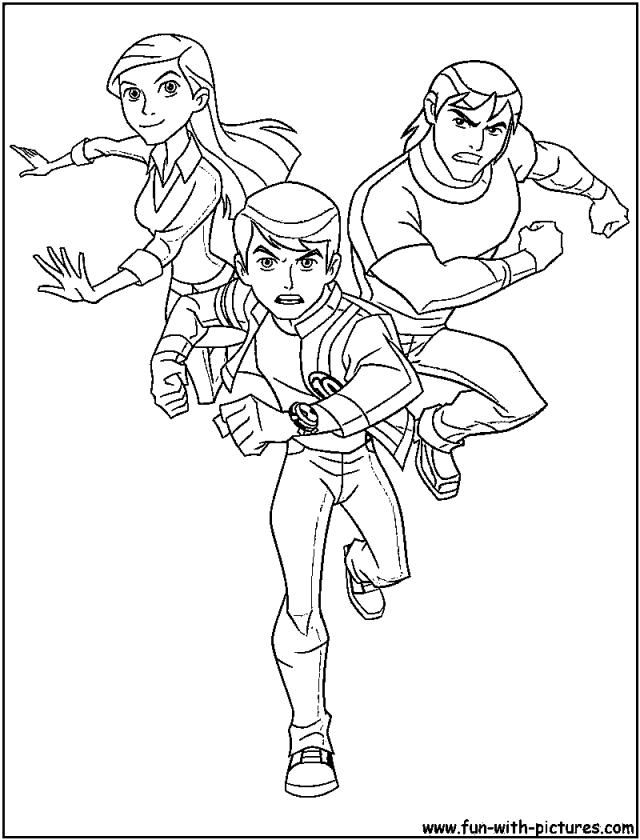 Ben10 Alienforce Coloring Page 14637 Ben 10 Aliens Coloring Pages