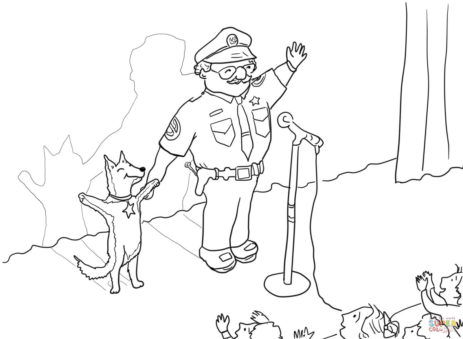 Officer Buckle And Gloria Taking A Bow On Stage Coloring Page