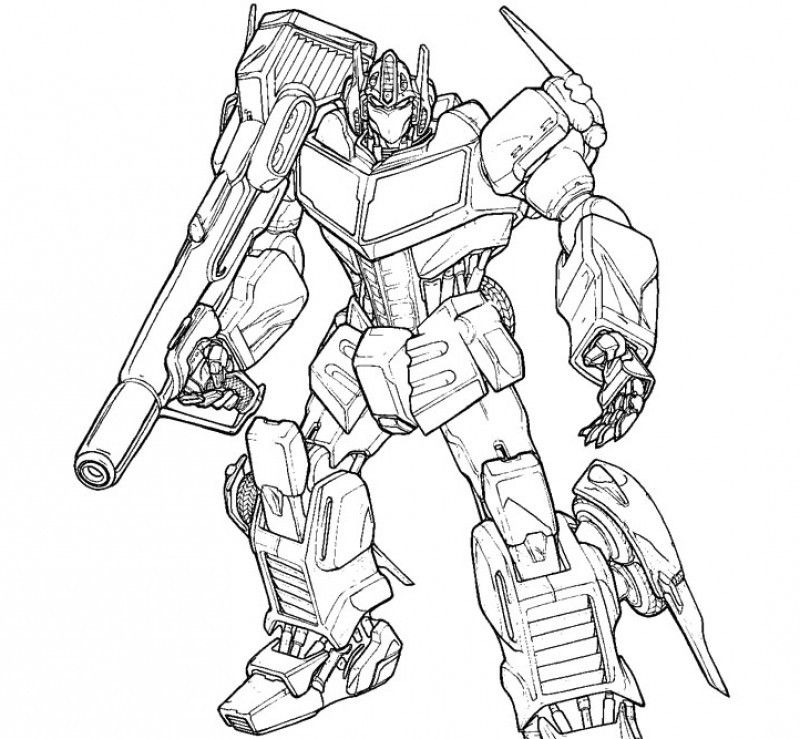coloring pages optimus prime - photo#7