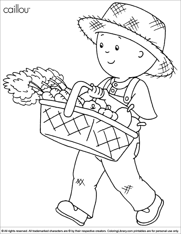 caillou online coloring pages - photo#32