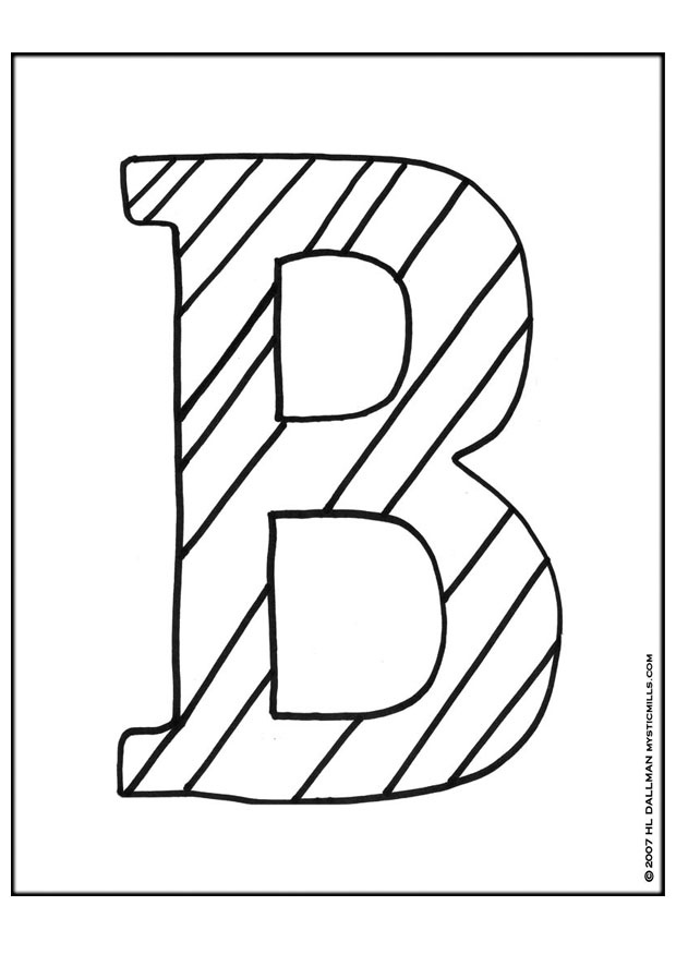 b printable coloring pages - photo #42