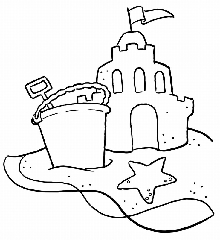 Summer Beach Coloring Pages AZ