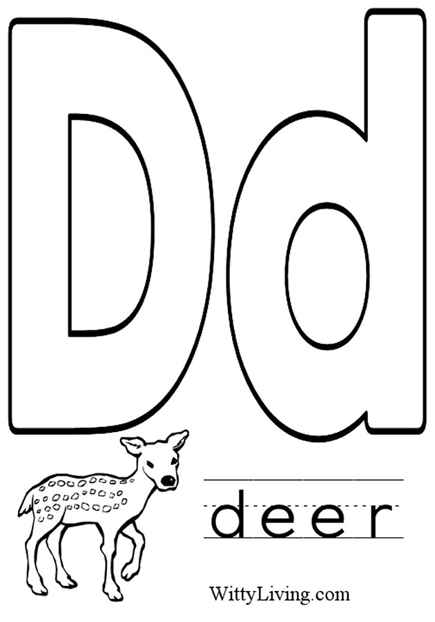 d coloring pages - photo#21