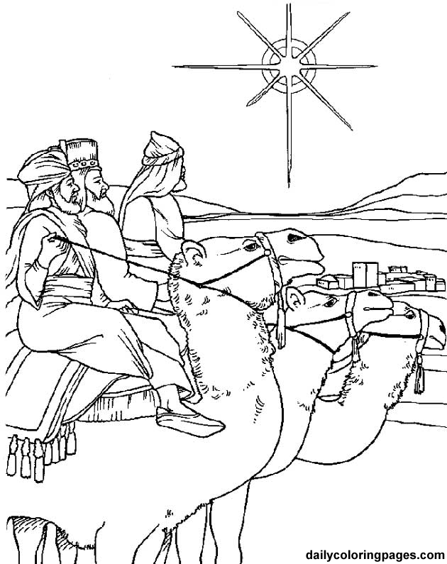 coloring pages of three kings - photo#29