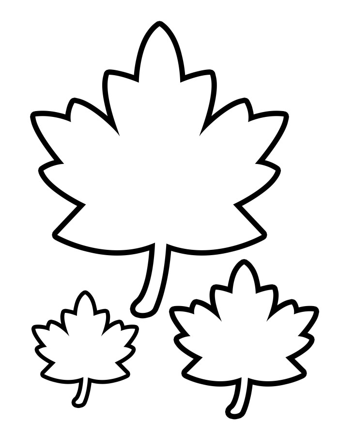 Printable Fall Leaves - AZ Coloring Pages