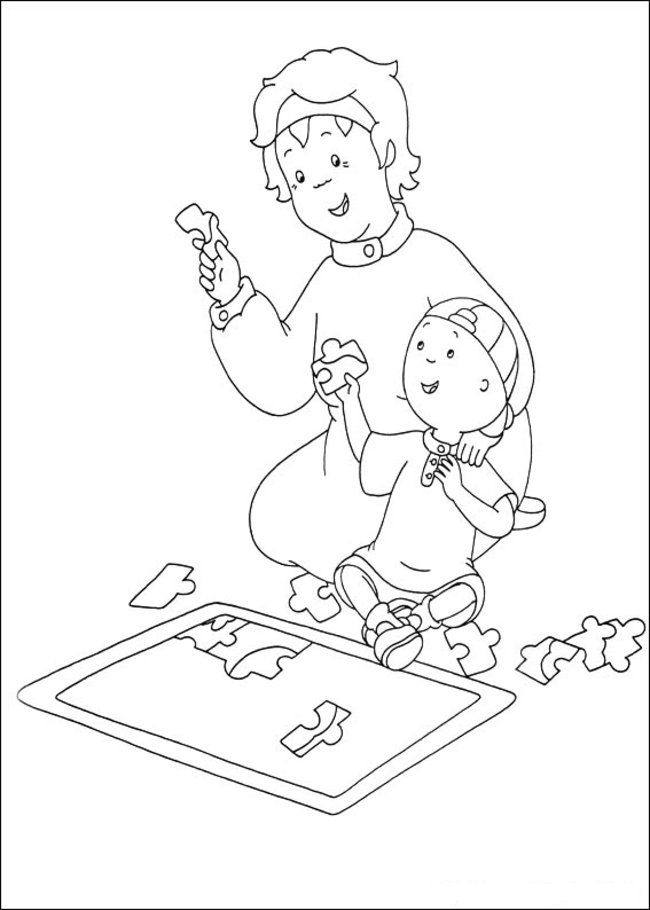 Caillou Coloring pages complete | Printable Coloring Pages