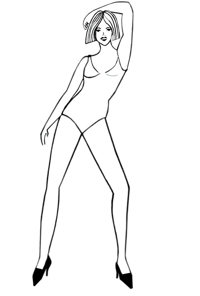 human body outline sketch