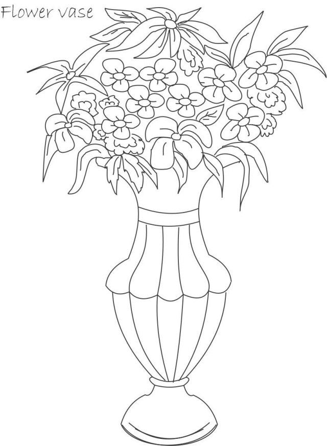 Top Flower Pot Coloring Page
