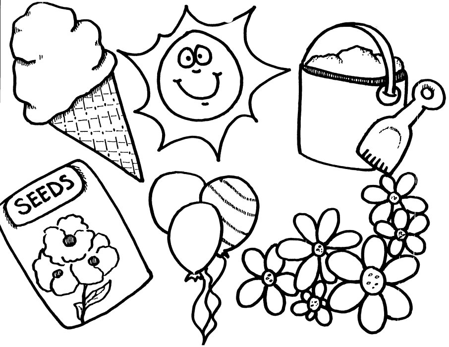 Summer coloring pages for preschool az coloring pages for Preschool spring coloring pages