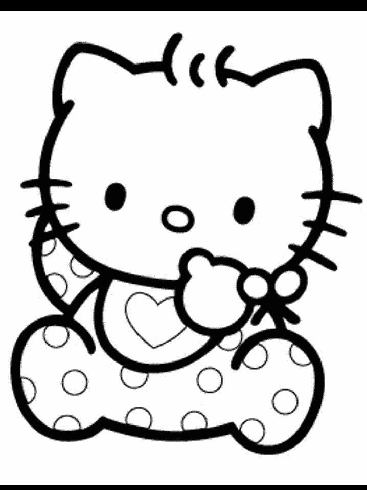 Pin Tags Desenhos Para Pintar Hello Kitty Colorir Coloring Home
