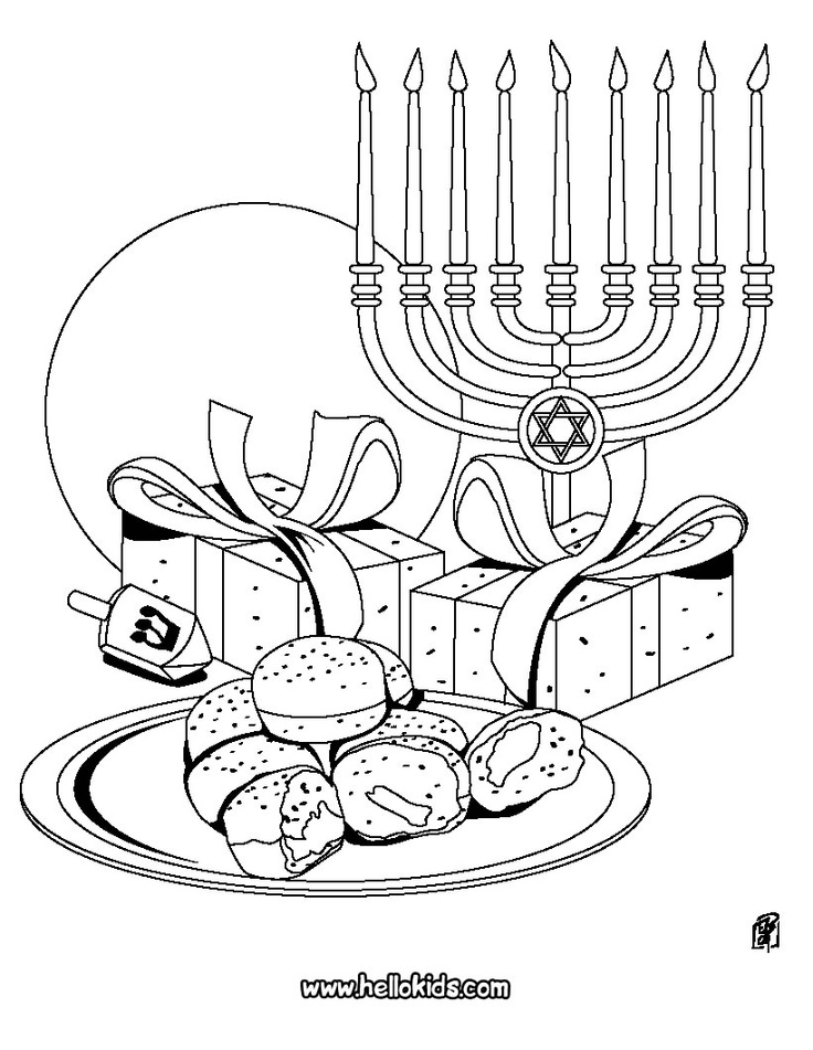 challah coloring pages - photo#17