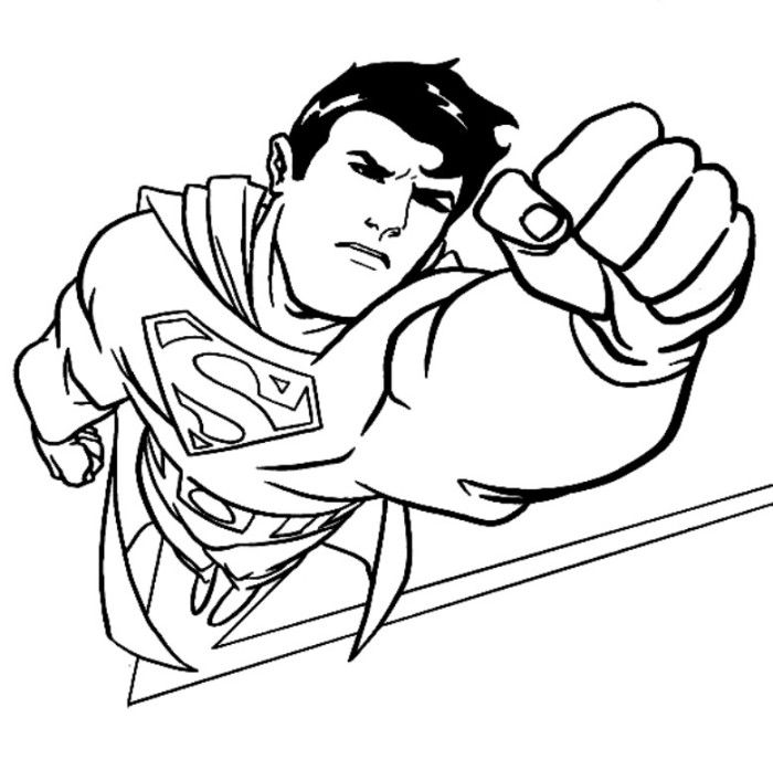 superman cartoon coloring pages - photo#10