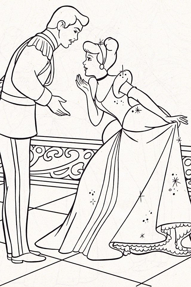 Cinderella And Prince Charming Coloring Pages - Coloring Home