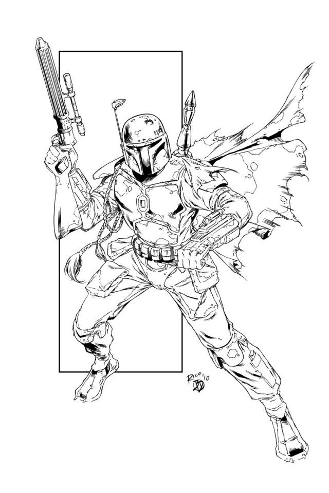 Star wars jango fett coloring pages coloring home for Jango fett coloring pages